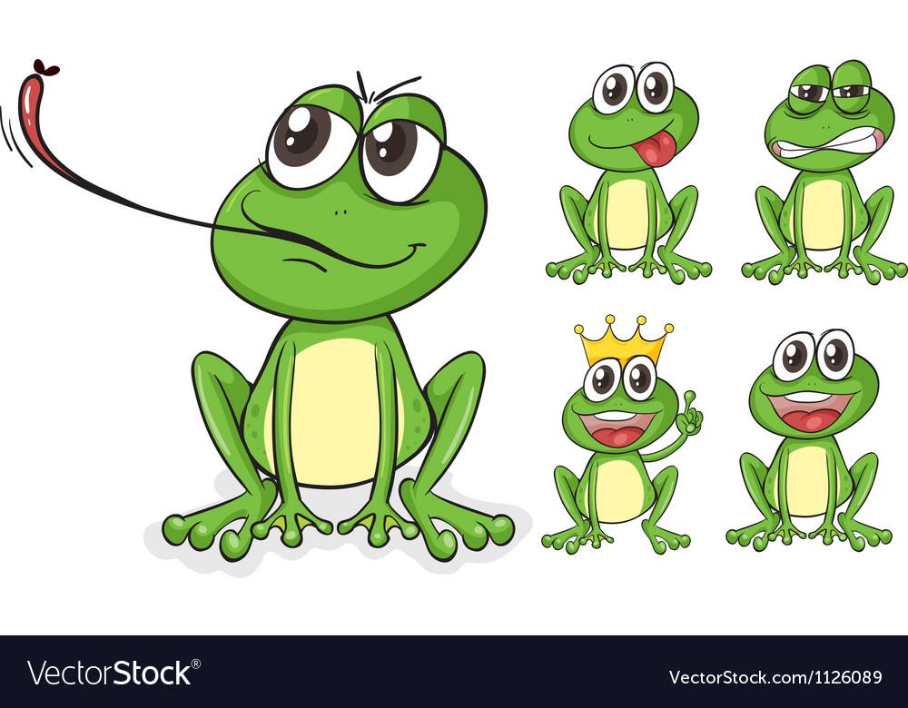 Green frogs vector