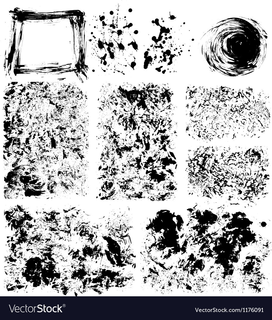 Set of textures vector