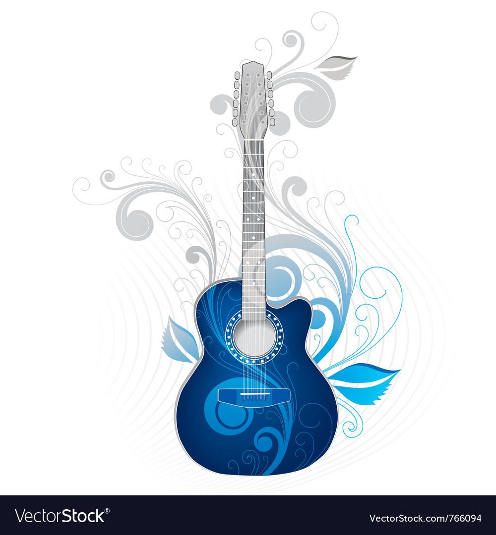 Cool guitar vector