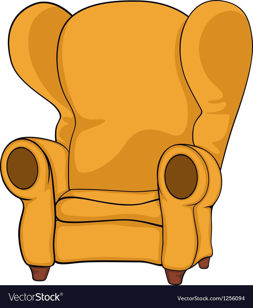 Old armchair vector