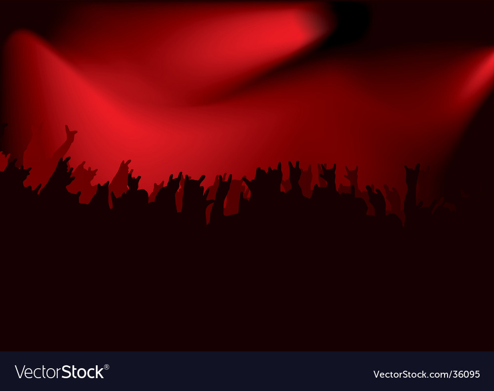 Rock red concert vector