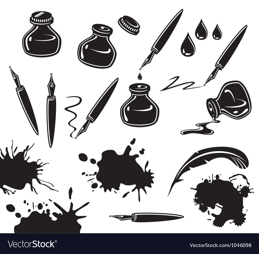 Ink set vector