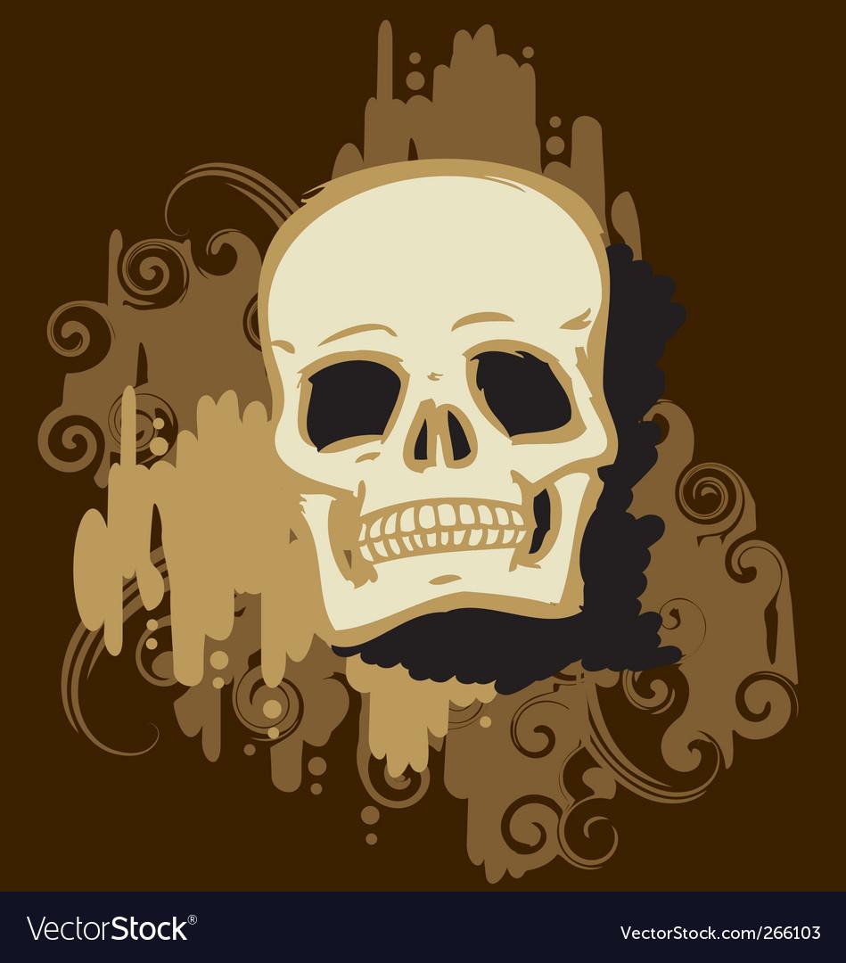 Skull gold vector