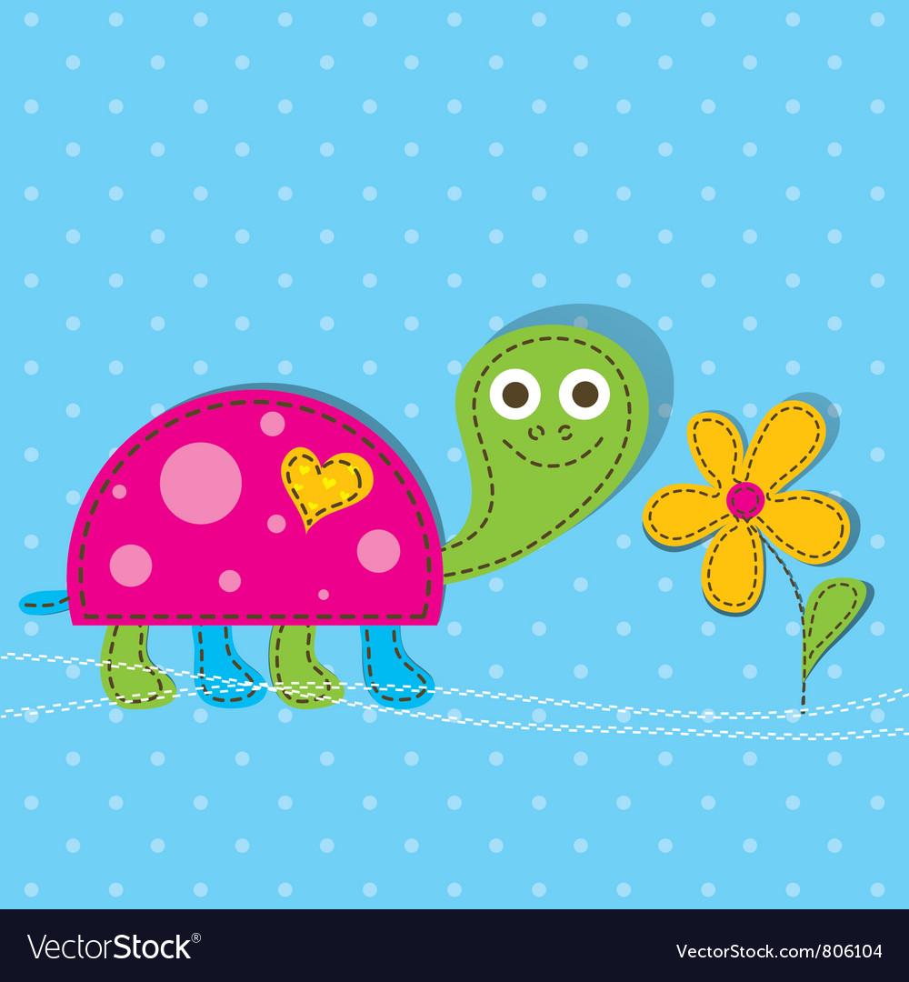 Turtle cartoon vector