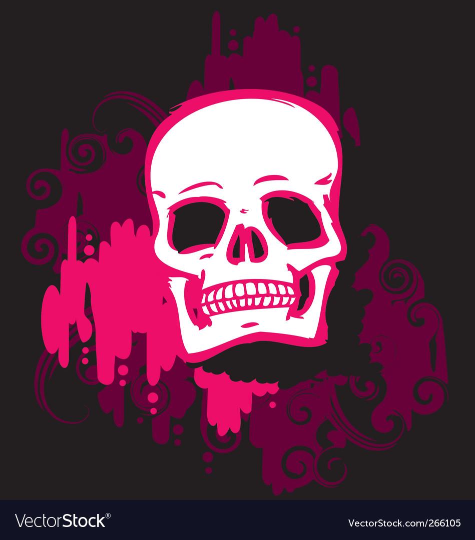 Skull pink vector