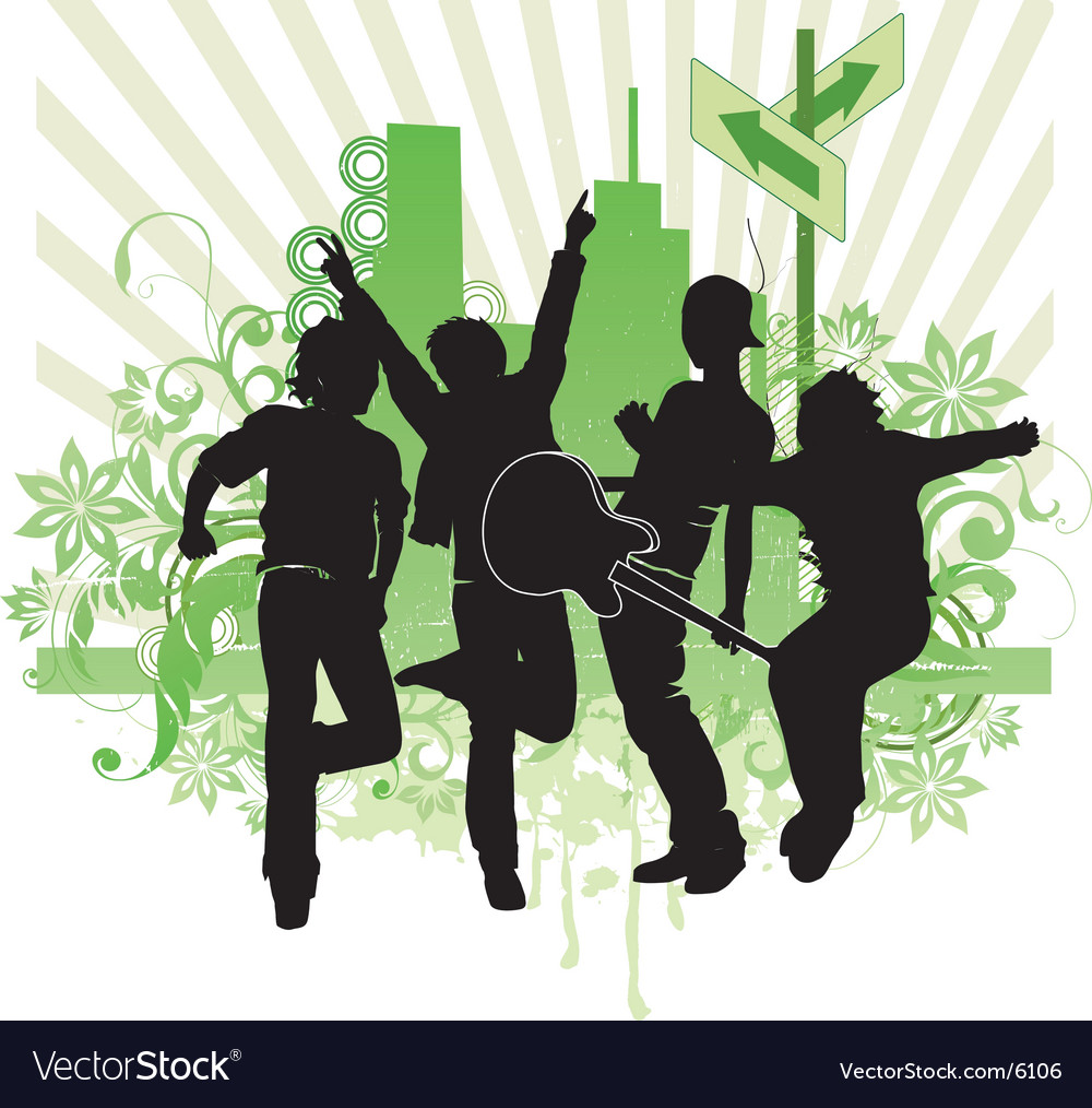 Pop band illustration vector