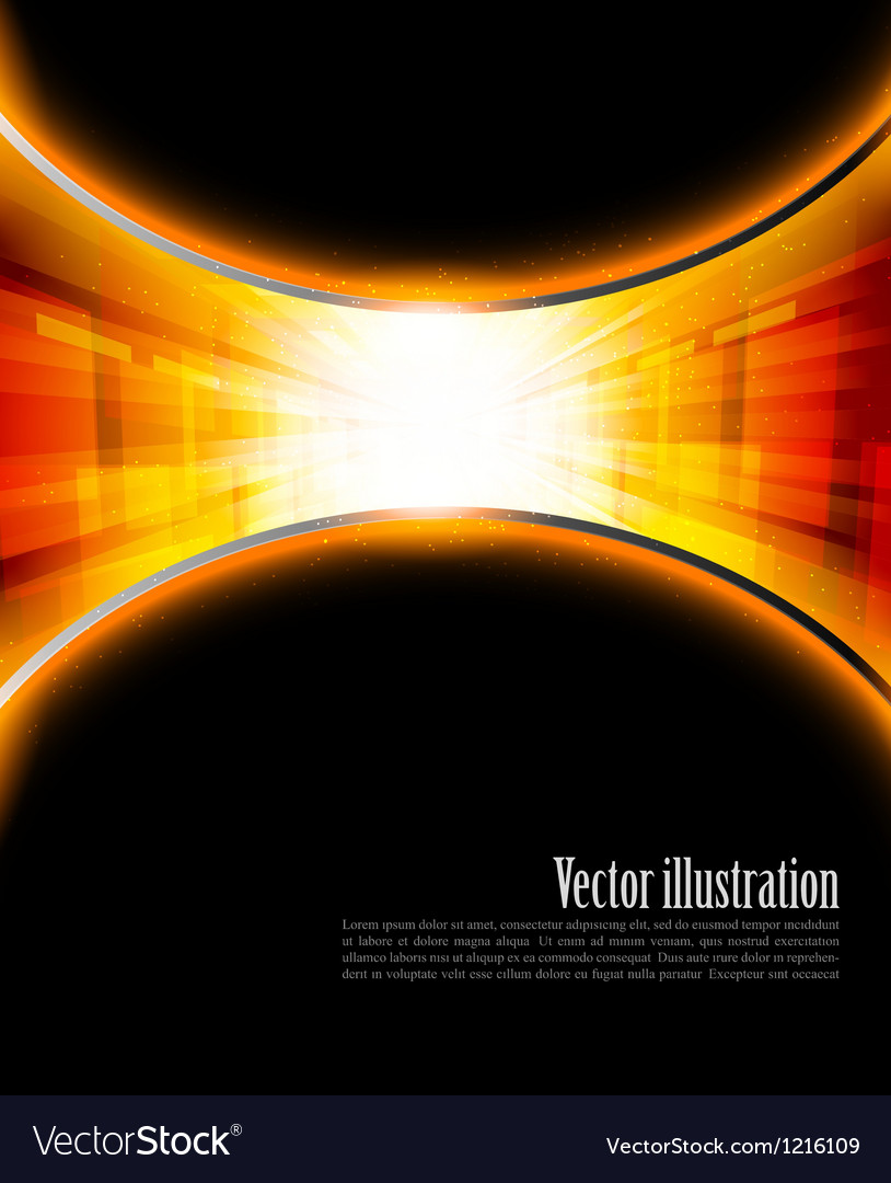 Bright orange background vector