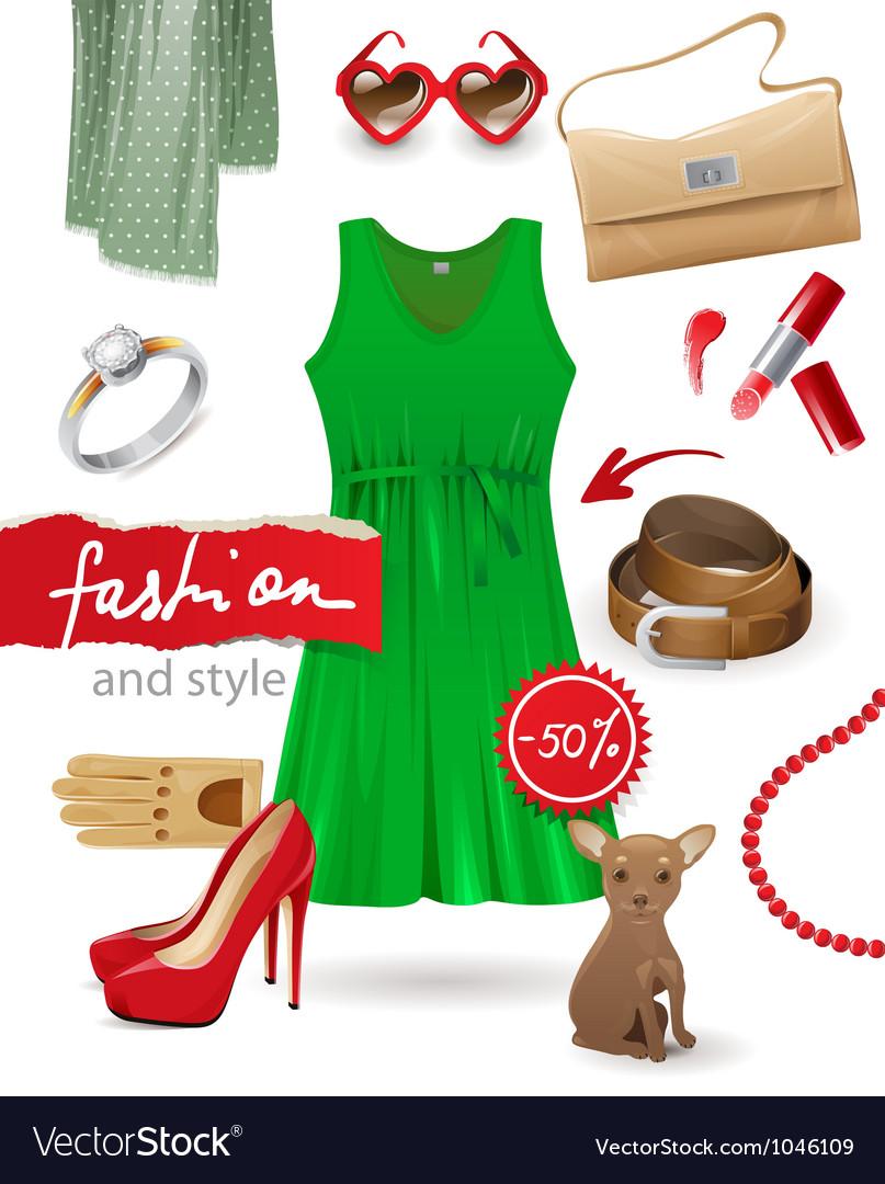 Fashion look vector