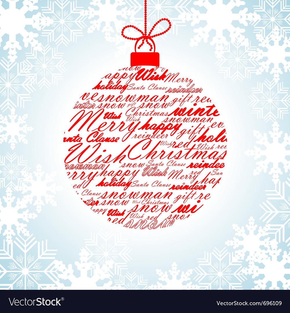 Merry christmas card vector by reka image 696109 vectorstock