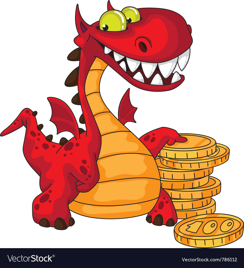 Dragon and money vector