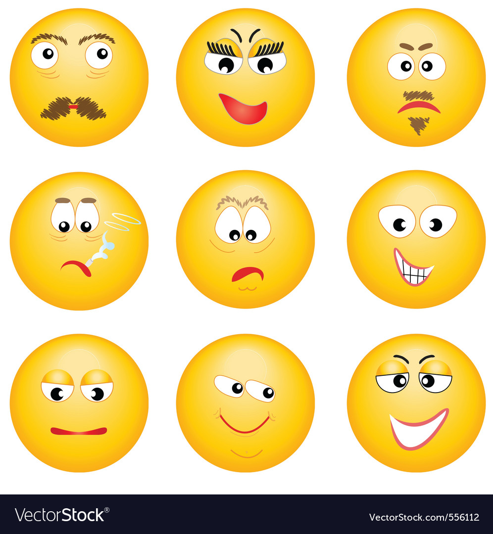 Emotions Faces Chart Pdf Smiley faces vector