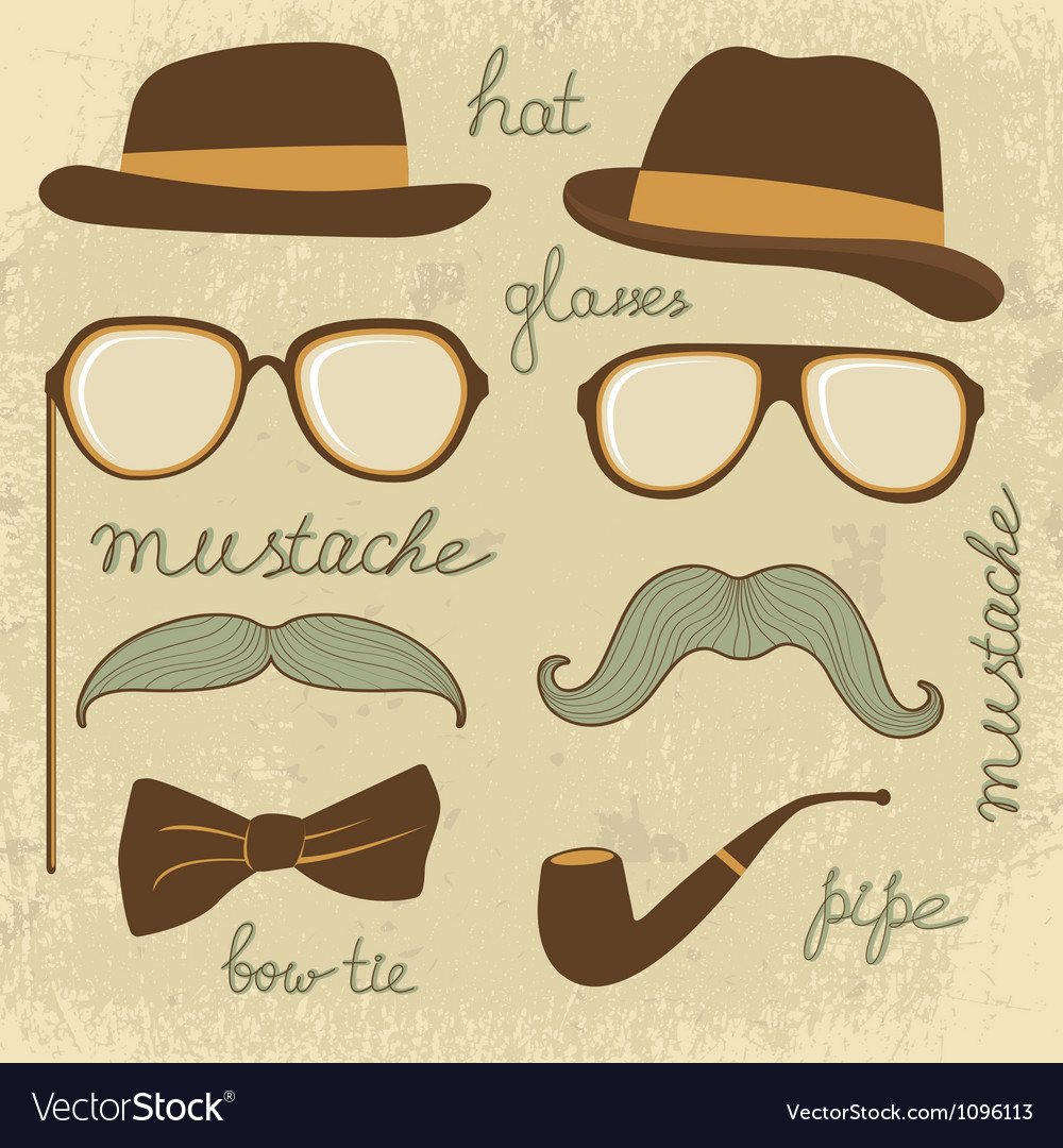 Mustache party vector