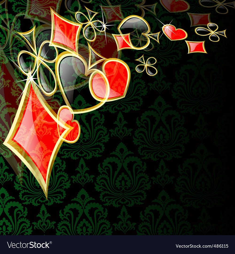 abstract play card background vector