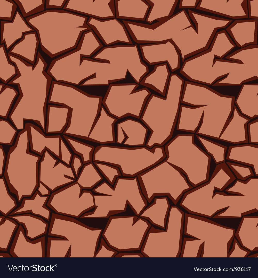 Crack ground vector