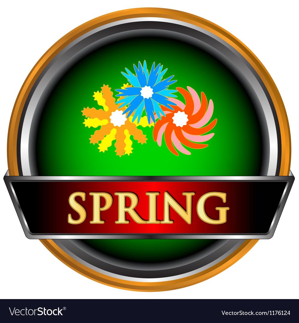 Spring icon vector