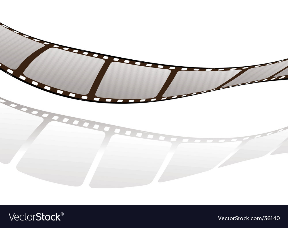 Film twist shadow vector