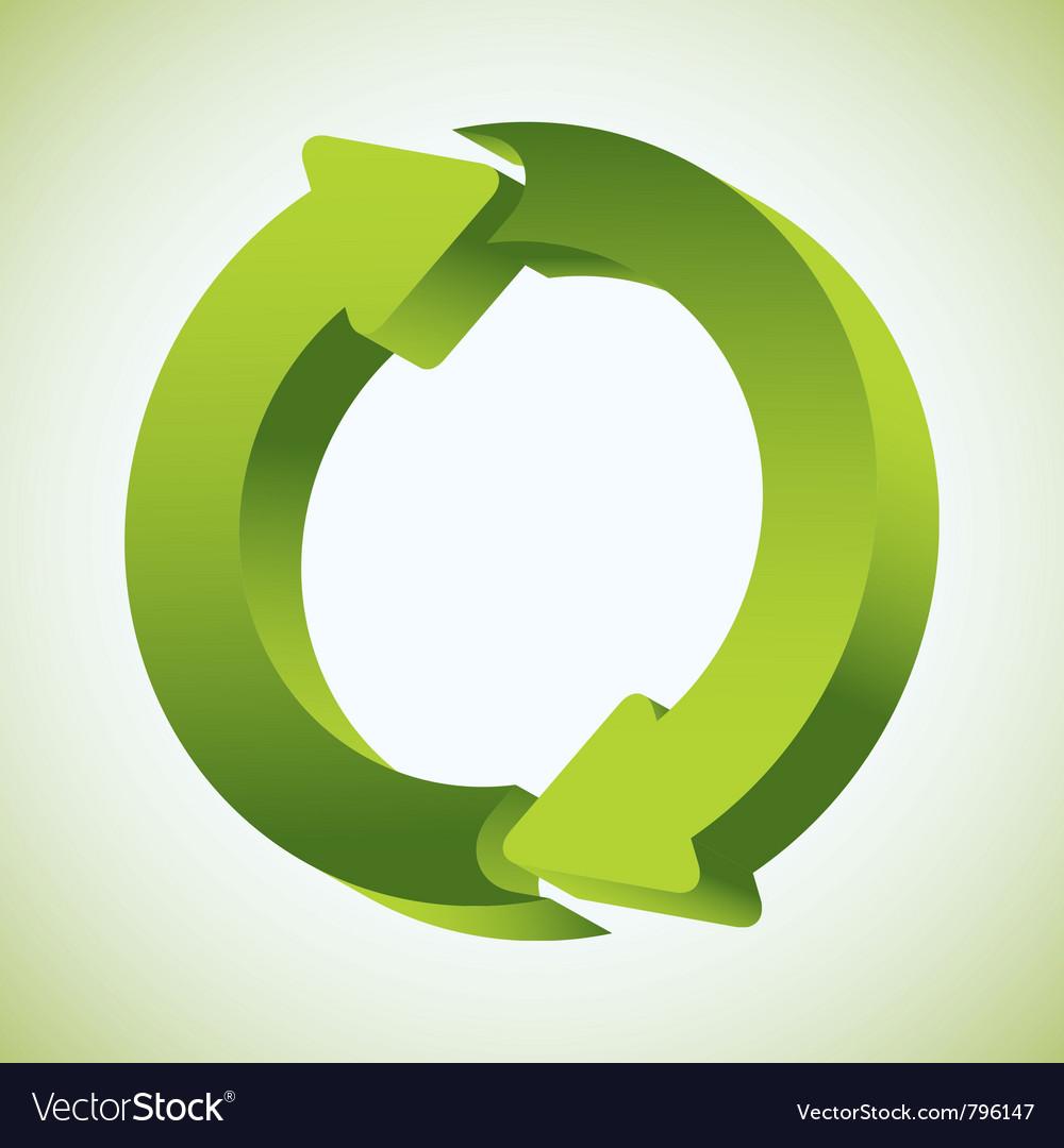 Refresh recycle icon vector