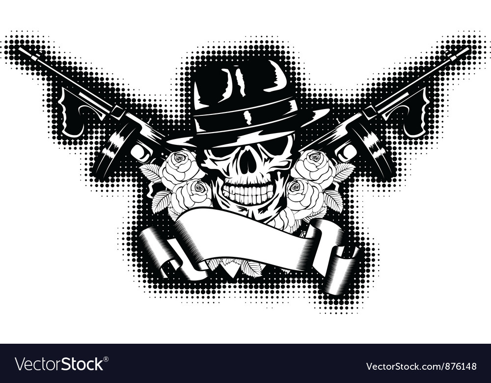 Gangster and rose vector