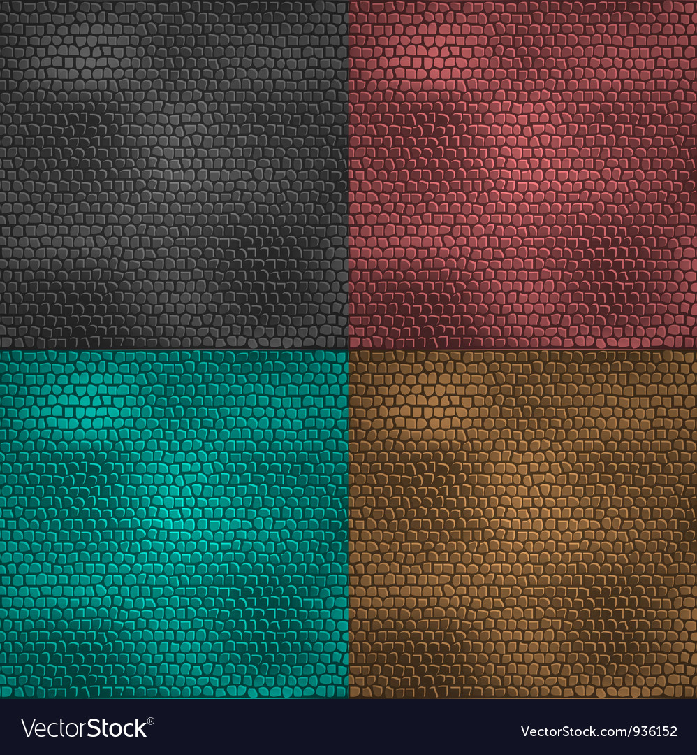 Set of leather patterns vector