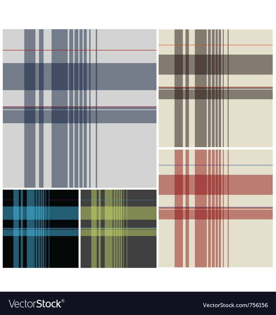 Fabric plaid textile vector