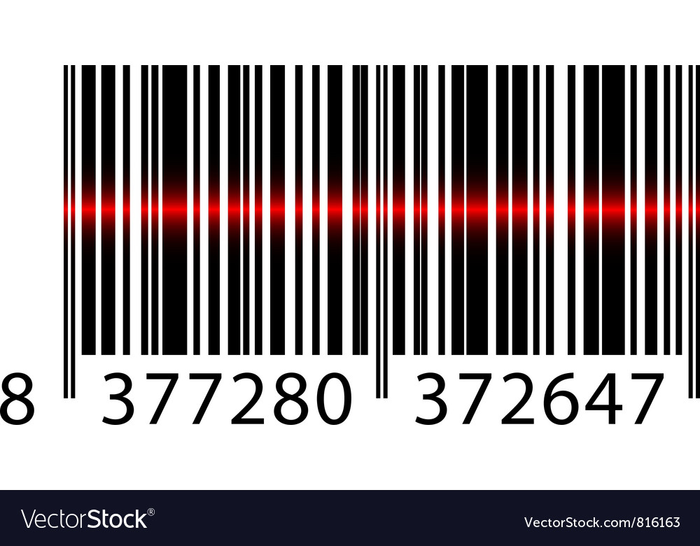Barcode laser vector