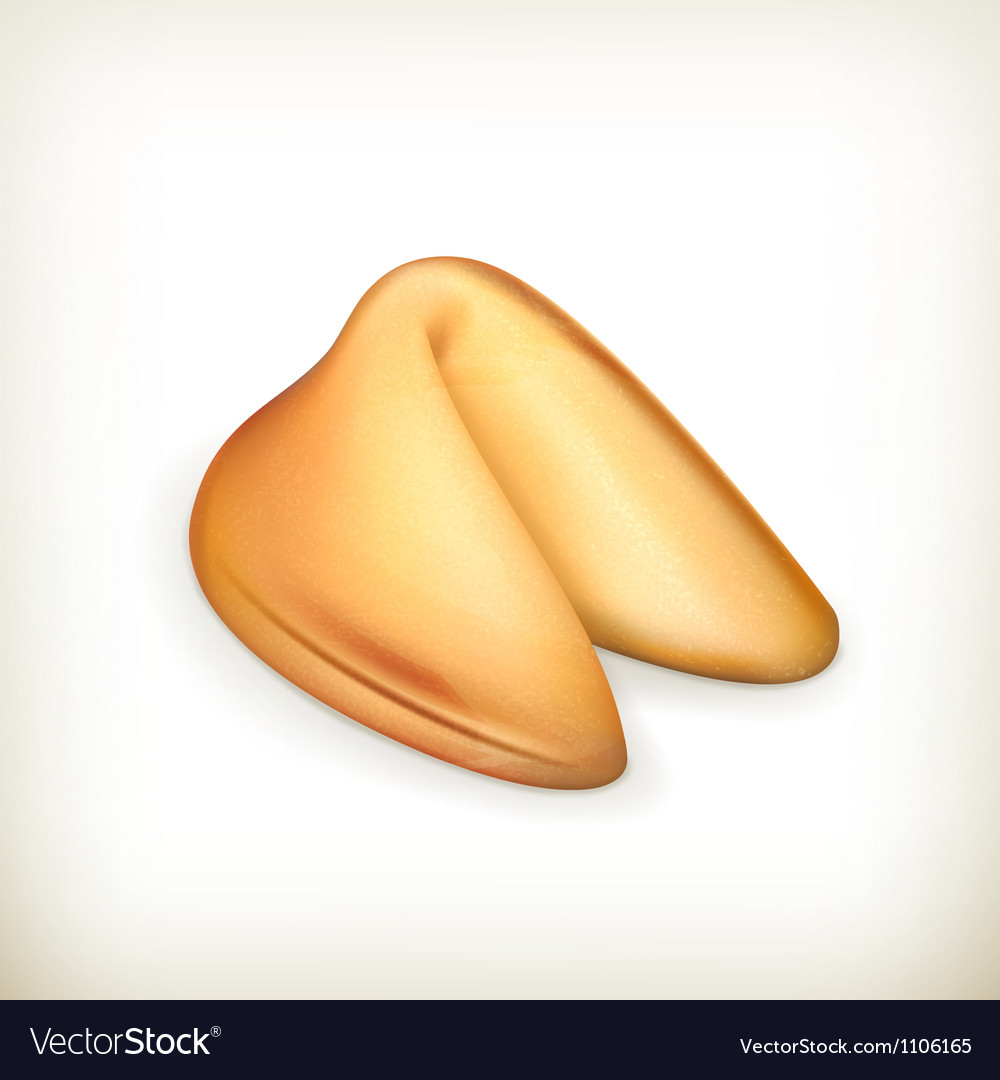 Fortune cookie vector