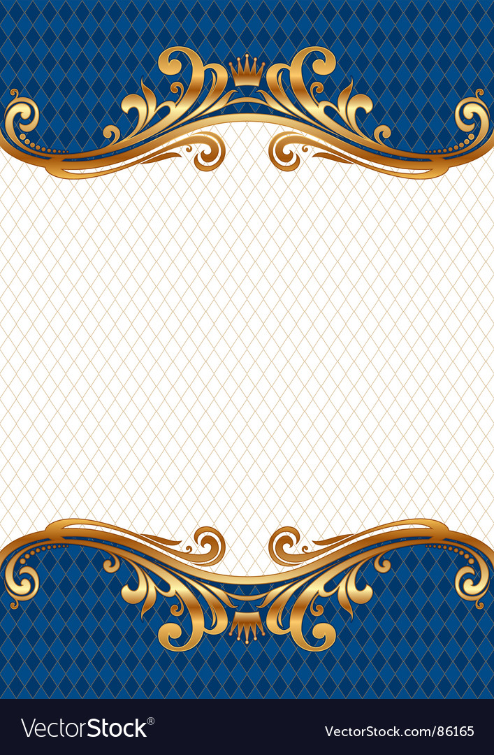 Ornate gold frame vectorOrnate Gold Frame Vector