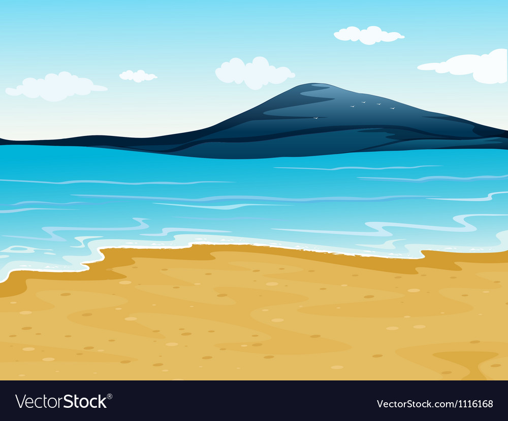 A sea shore vector