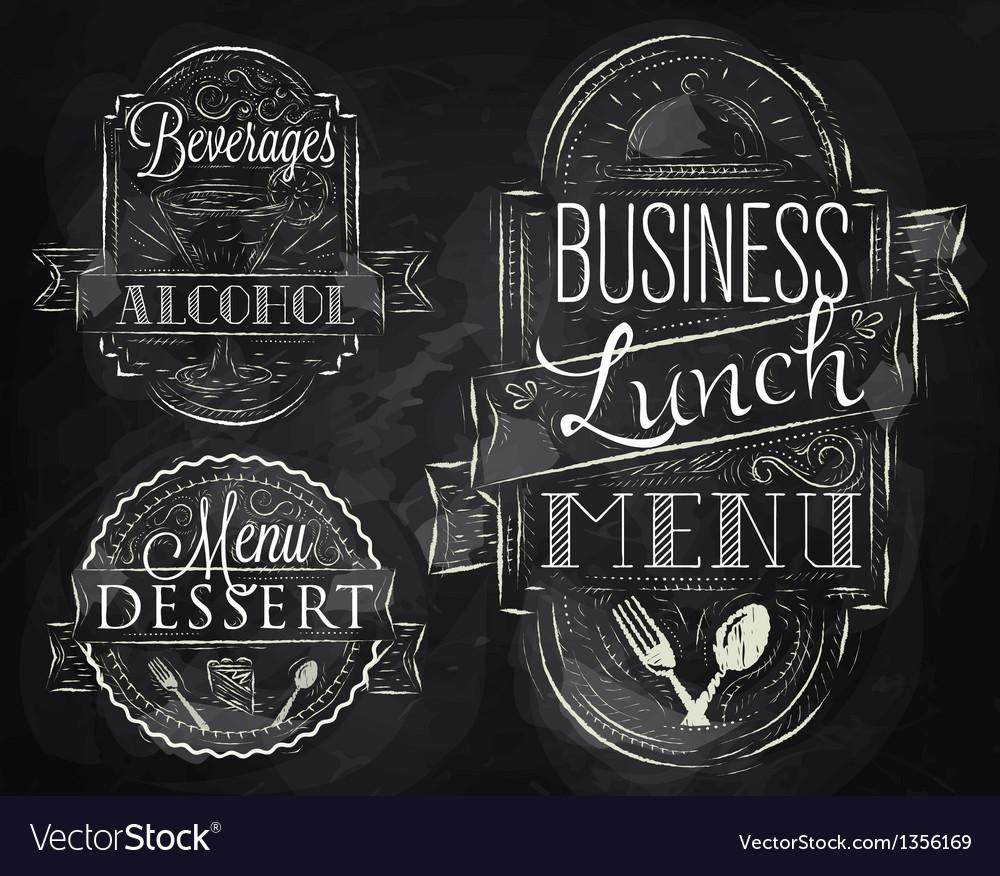 Elements restaurant vector