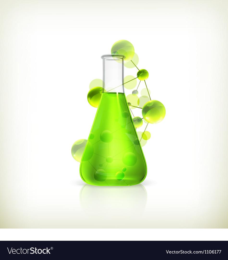 Laboratory flask vector