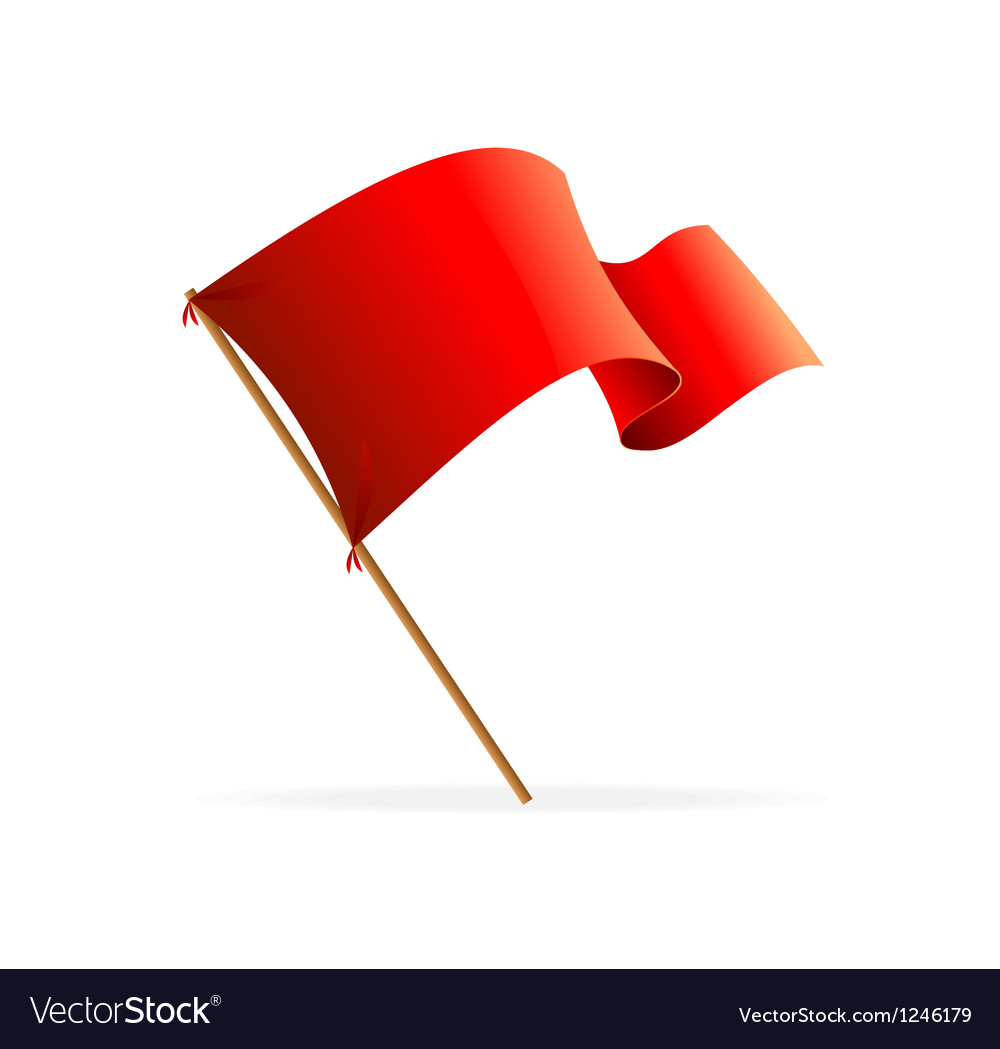 Flag red icons vector