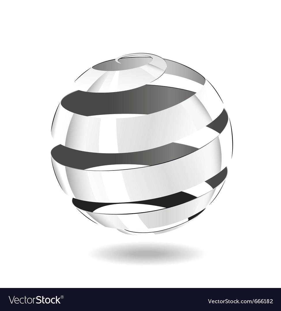 Steel strip ball vector