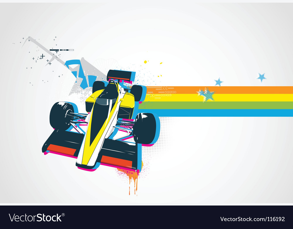 Retro sport car vector