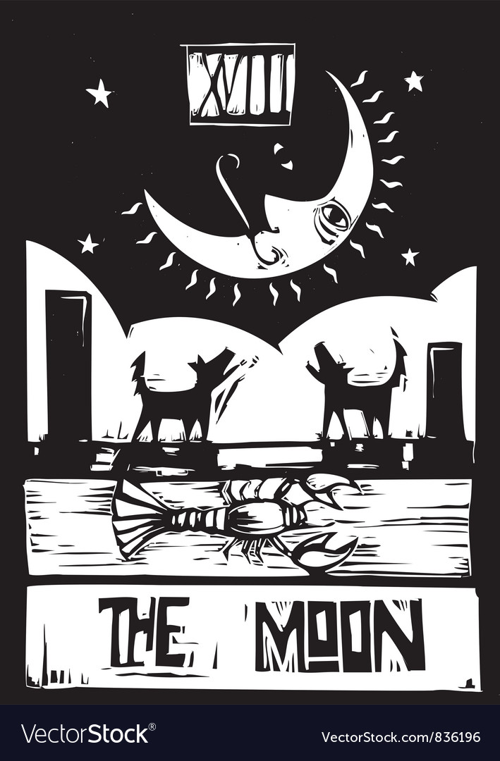 Moon tarot vector