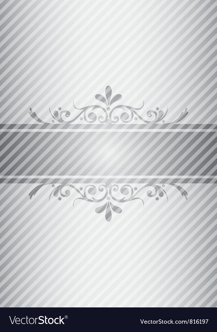 Silver gray vintage background vector