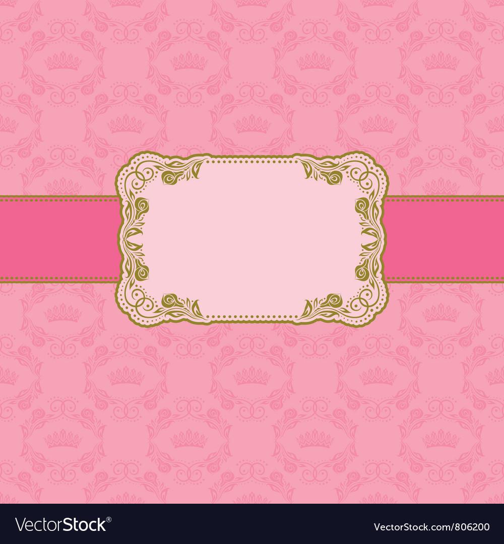 Template frame design vector