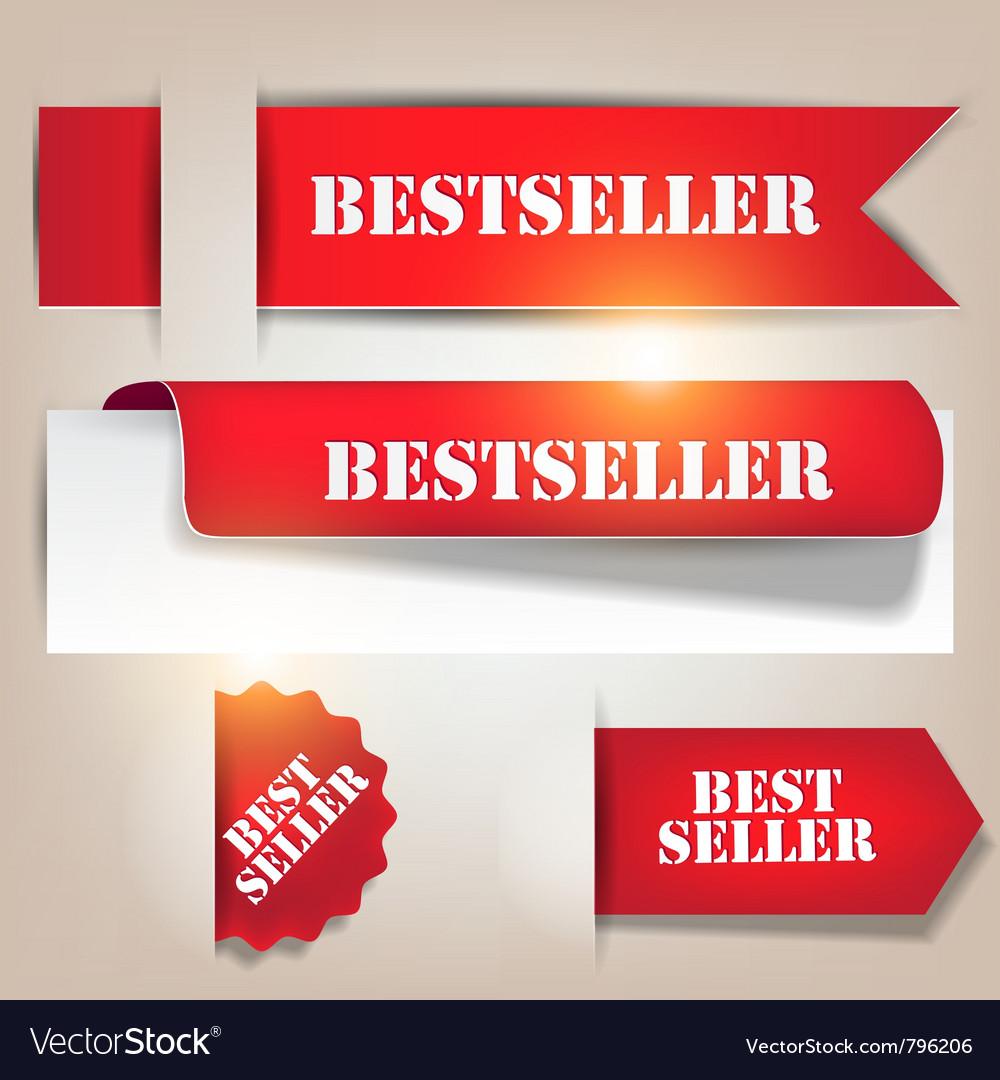 Bestseller banners labels vector
