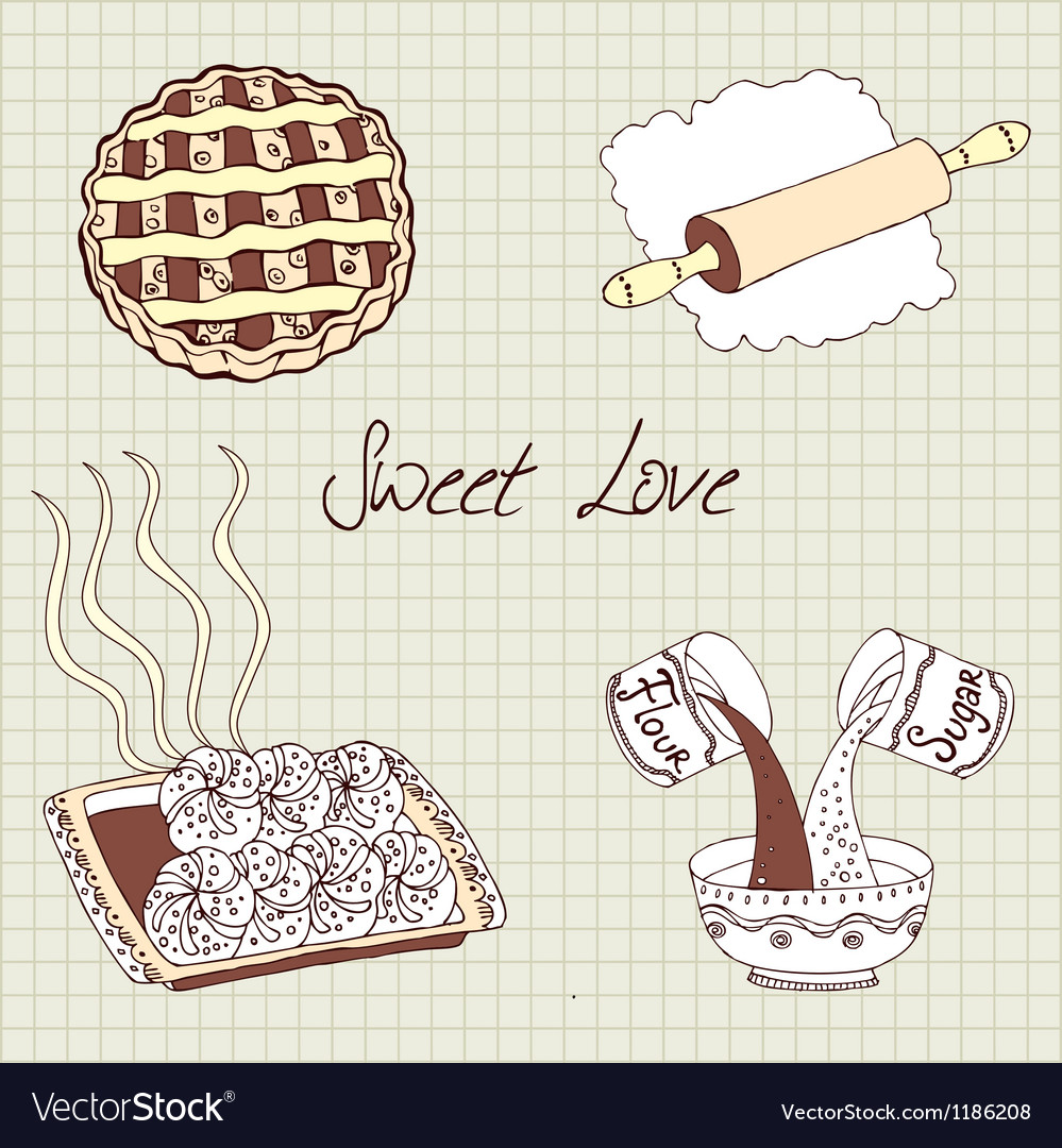Sweet baking vector