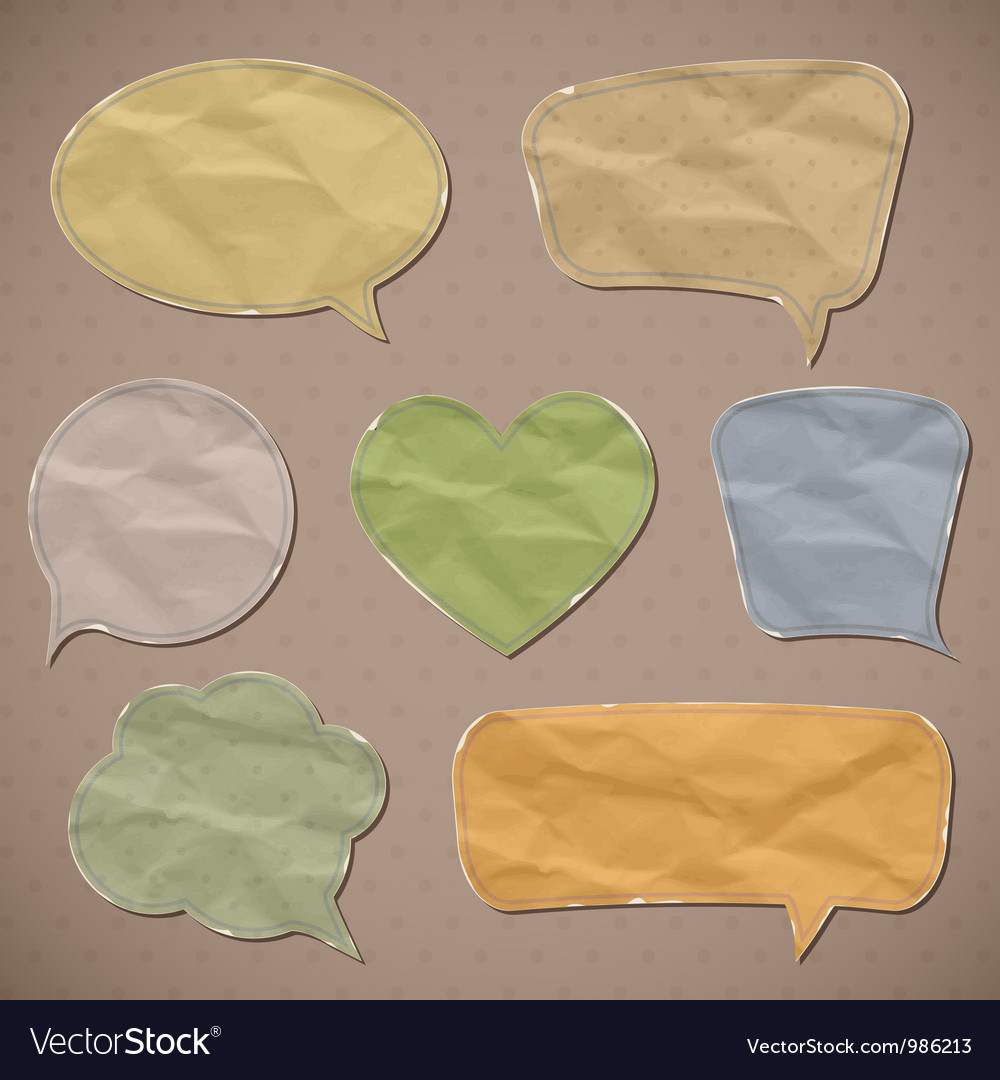 Crumpled paper vector