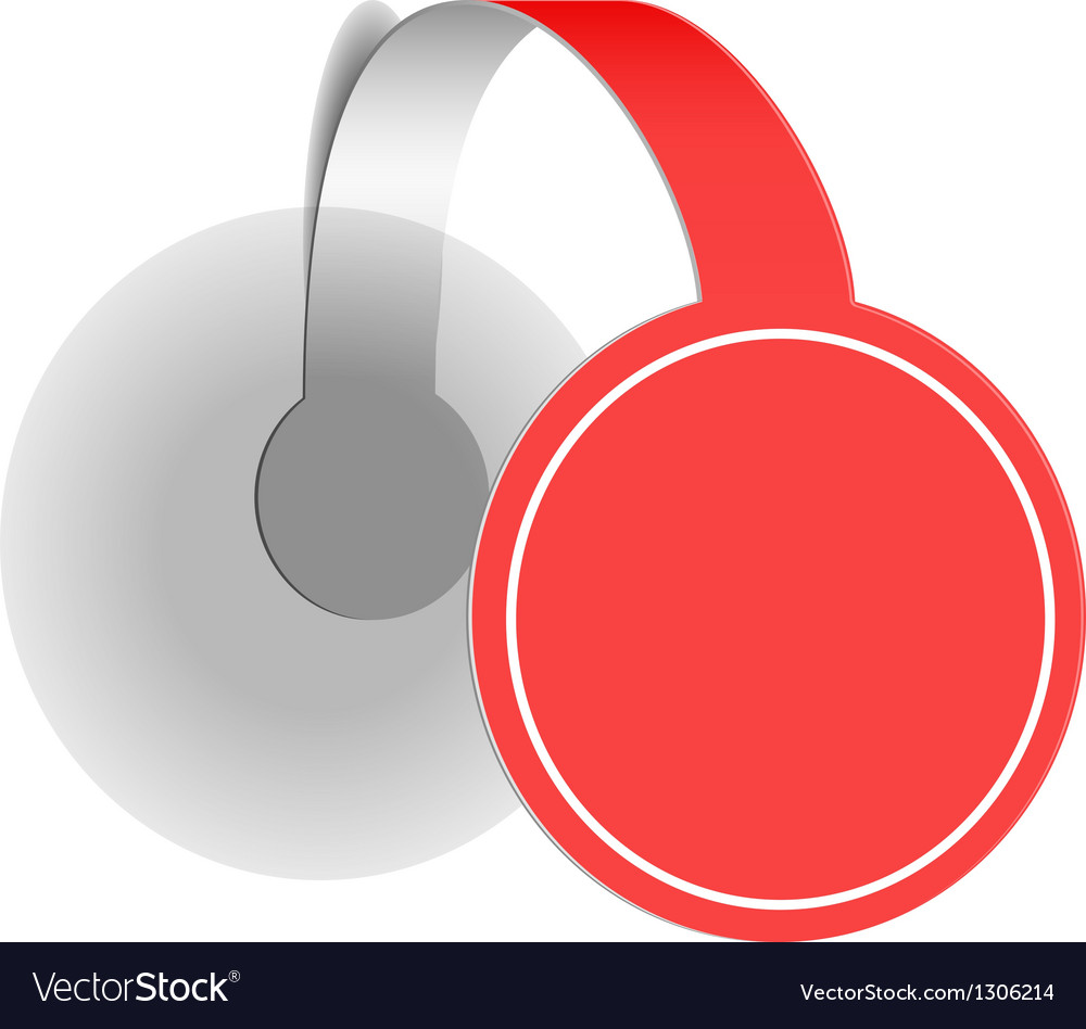 Red advertising wobbler vector