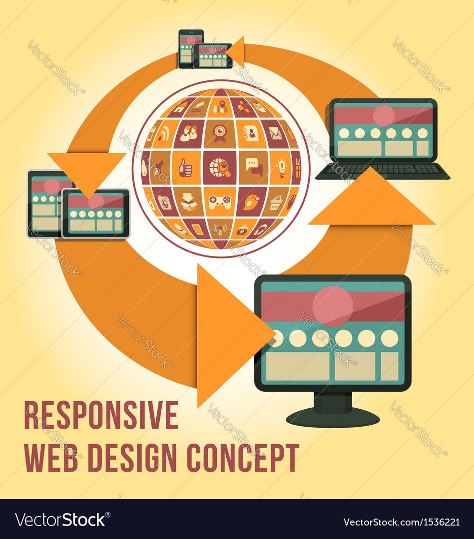 Responsive web design concept vector