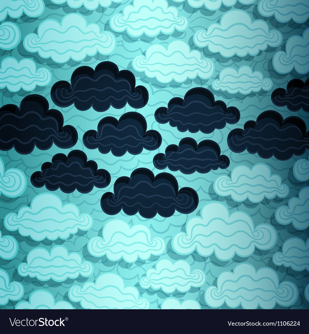 Cloudy sky banner vector