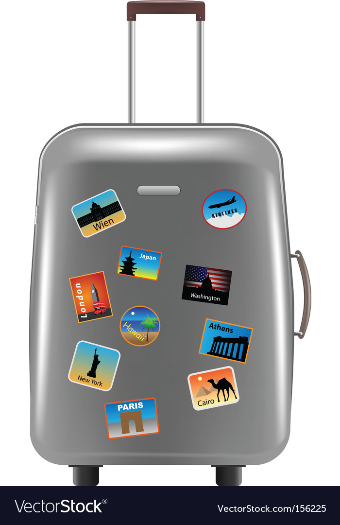 Object suitcase vector