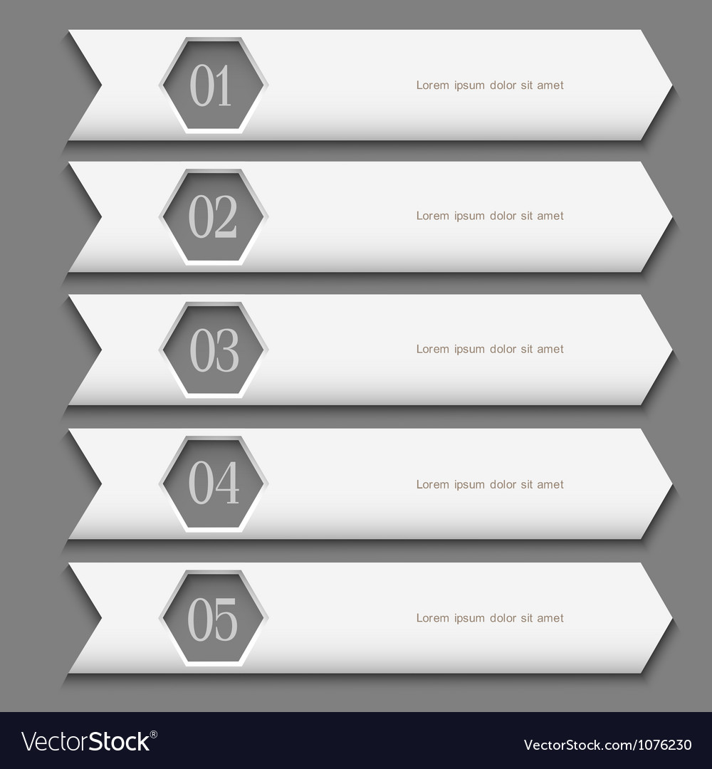 White design template with stylized arrows vector
