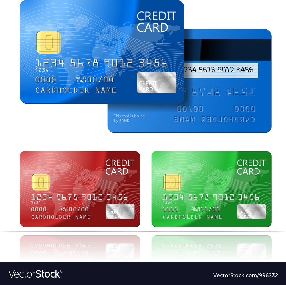 Credit card 2 sides vector