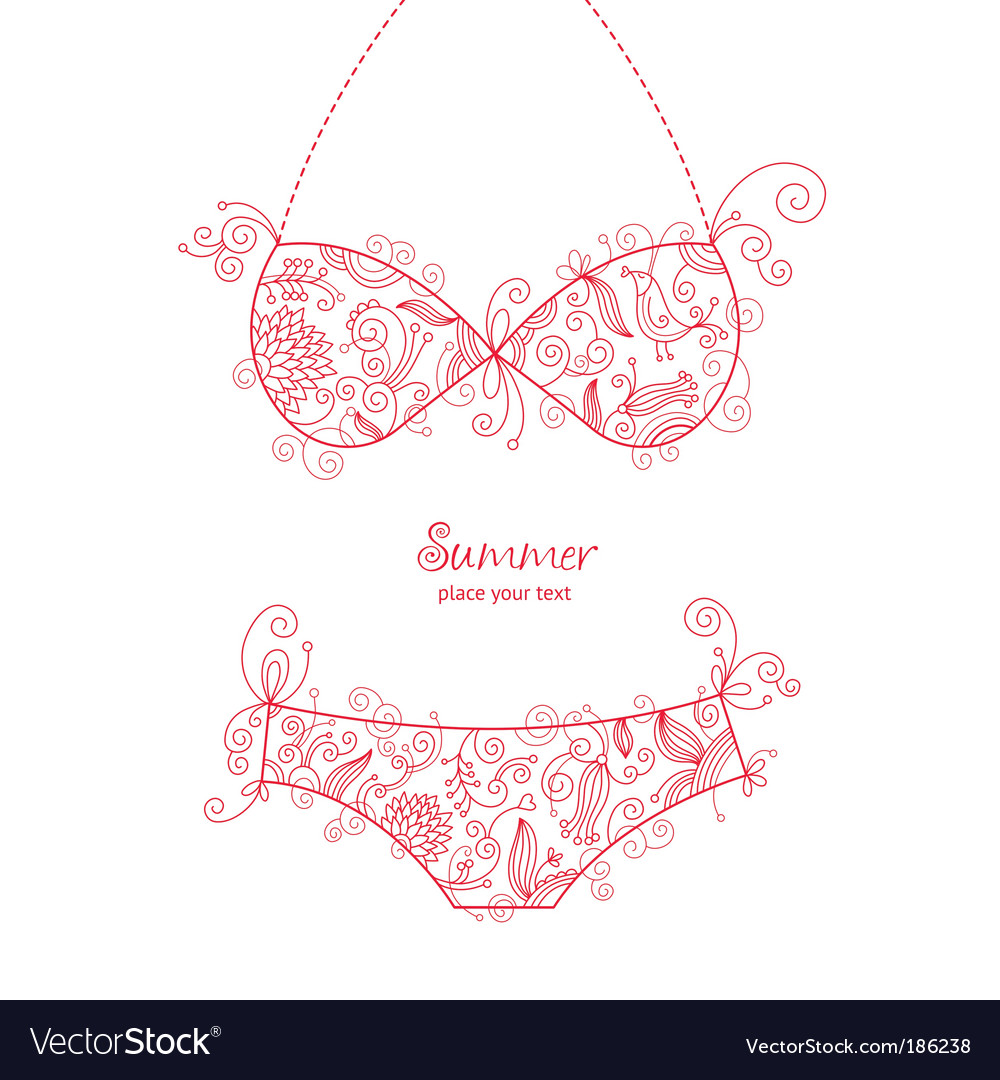 Swimsuit vector
