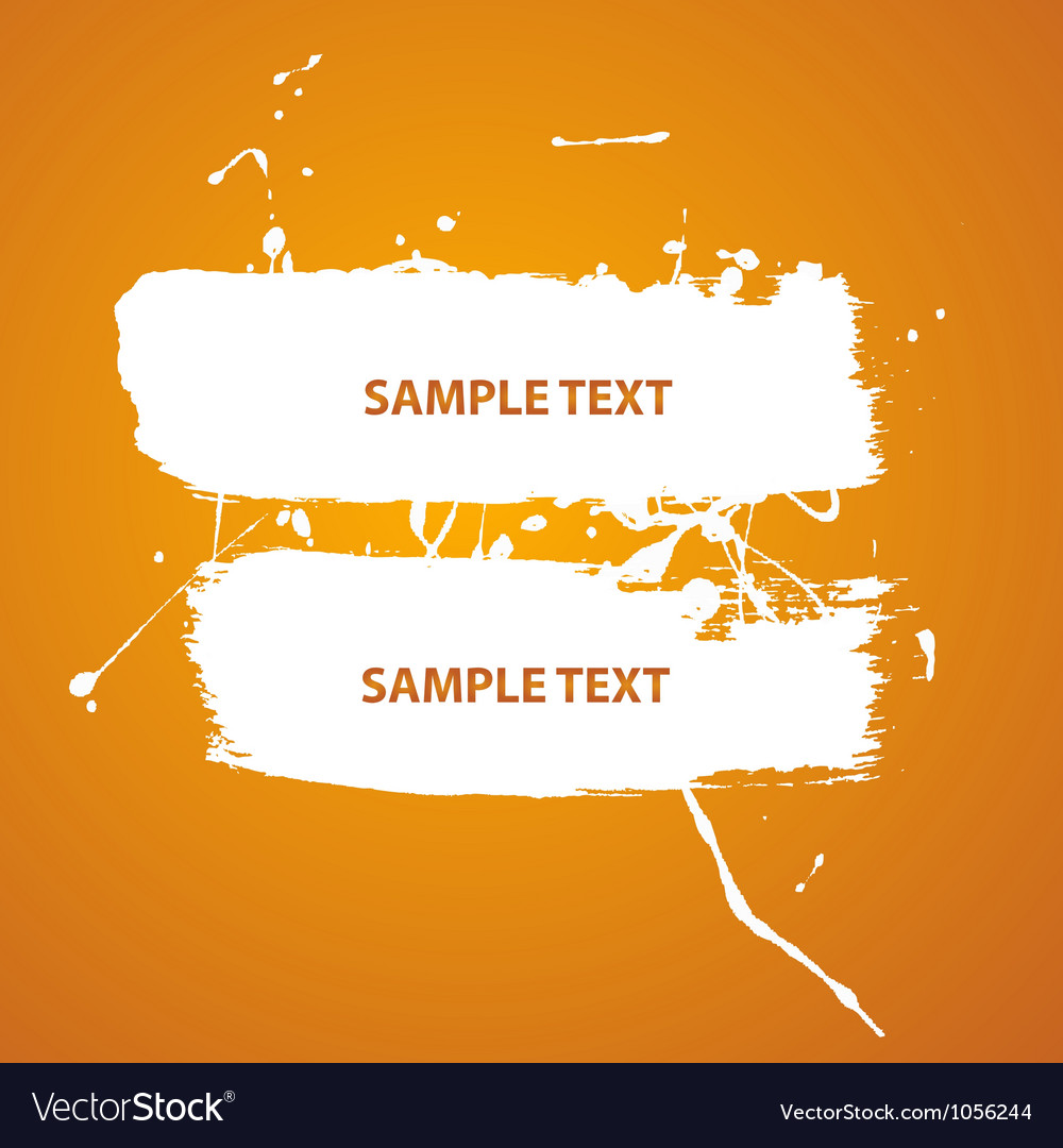 Water paint banner vector