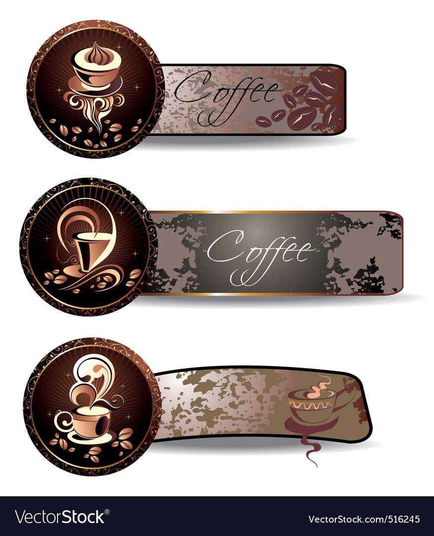 Coffeetea banners vector