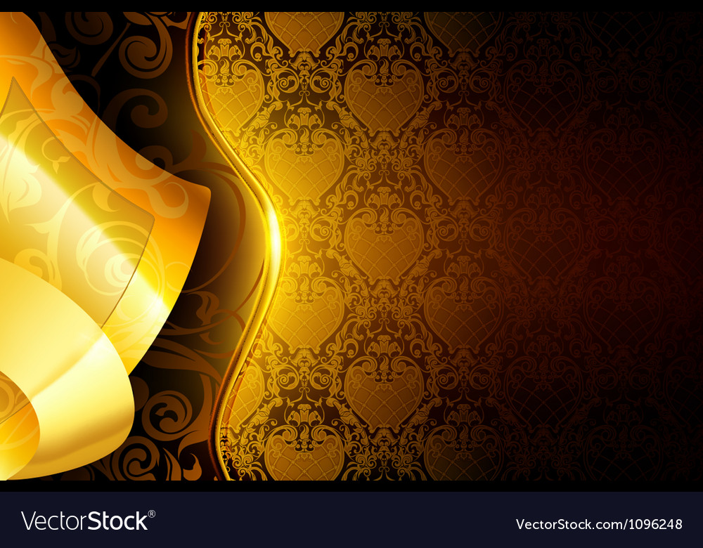 Golden wallpaper background vector