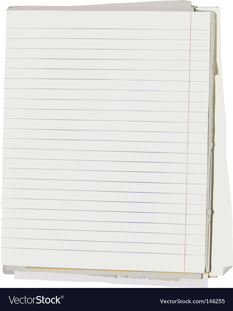 Note book sheets vector